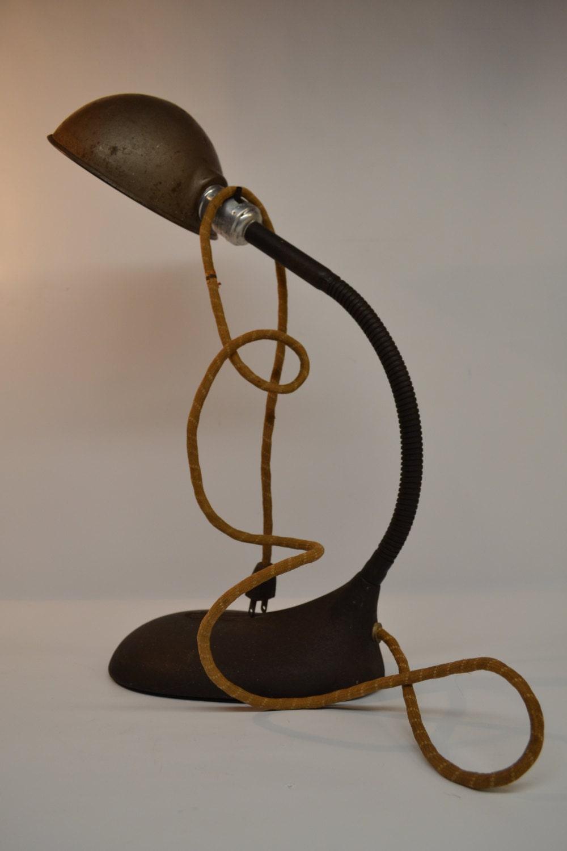 Antique Desk Lamp Gooseneck Desk Lamp by ModernArtifactDecor