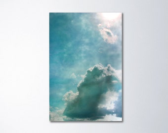 Sky Art, Blue Art, Vertical Art, Large Canvas Wall Art, Light Blue Art, Vertical Canvas Art, Blue Canvas Print, Cloud Art, Peaceful Decor