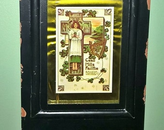 Closing Shop ! EVERYTHING ON SALE Vintage Shabby Chic repro post card picture frame
