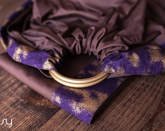 Baby ring sling - Baby Carrier - Beads as a gift - Choco