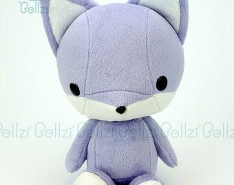 "Bellzi® Cute Fox Plush Stuffed Animal Toy ""Purple"" w White Contrast Fox Plushie - Foxxi"