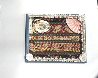 Handmade Victorian Shadowbox Jewelry Holder with Shabby Chic Look for Necklaces and Bracelets by  FairyLace Designs