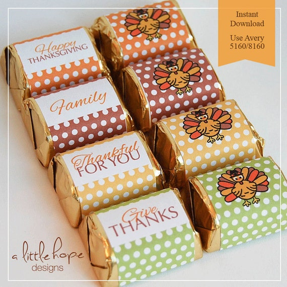 chocolate bar label template - thanksgiving printable mini candy wrappers thanksgiving