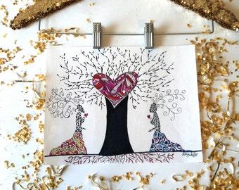 Original Lesbian Artwork - The Roots of Love