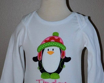 Penguin Applique Shirt or Onesie Boy or Girl