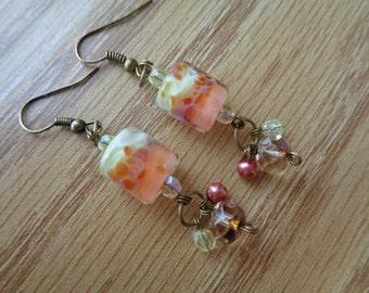 Garden Sprite Glass Earrings