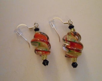 Spiral Glass Bead Earrings Item No. 8