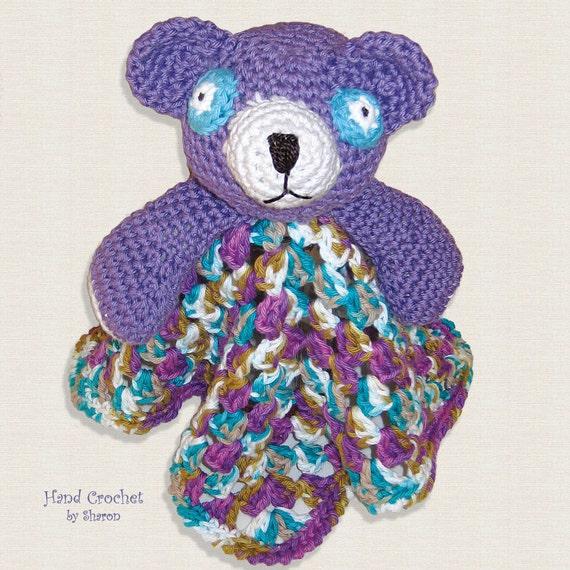 Amigurumi Baby Blanket : Baby Snuggle Blanket Amigurumi Bear Security Blanket Lovey
