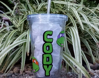 Personalized Teenage Mutant Ninja Turtle Acrylic Tumbler