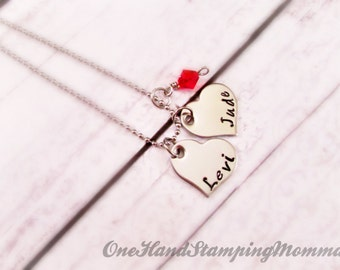 Hand Stamped Jewelry - Personalized Jewelry - Hand Stamped Necklace - Mom Necklace - Child Name Necklace