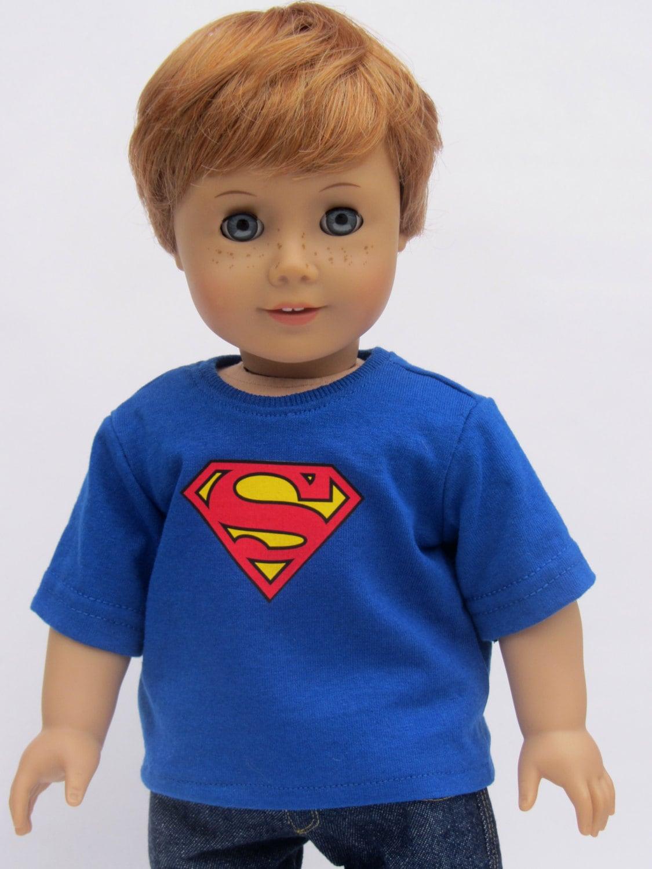 American Girl Boy Doll Clothes Superman Tee Shirt