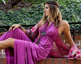 Boho Dress, Long Dress, Maxi Dress, Boho Chic Dress, Convertible Wrap Dress, Sundress, Beach Hippie Dress, Gypsy Dress AL1043