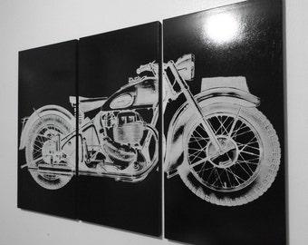 Motorcycle Wall Art harley davidson vintage 1946 knucklehead motorcycle / bike /