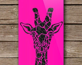 Neon Giraffe iPhone Art