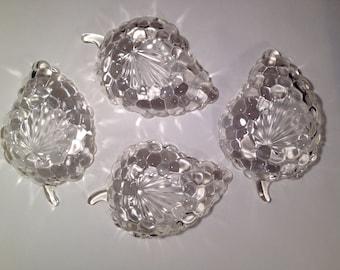 Anchor Hocking Bubble Leaf Relish Dishes