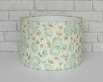 Floral 30cm diameter drum lampshade