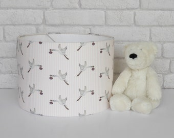 Nursery lampshade in Stork design - MADE TO ORDER
