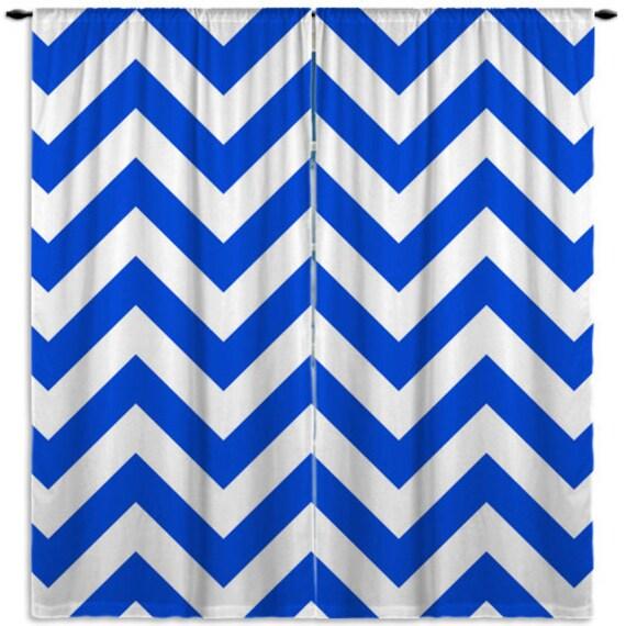 Curtains Ideas chevron curtains blue : Royal Blue Chevron Window Curtain Kids Curtains