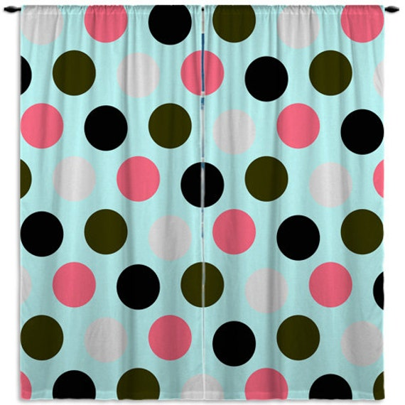 Mint Green Pink Window Curtain Turquoise Kids Curtains