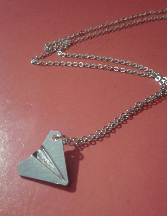 Airplane - Sterling Silver Charm Necklace - AgHalo