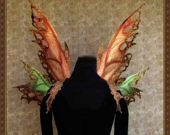 Adult Fairy Wings**Iridescent Fall/Autumn/Forest**FREE SHIPPING**Costume/Photography/Masquerade/Cosplay/Weddings/Renn Faires