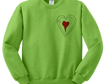 Grinch heart ugly christmas sweatshirt sweater jumper pullover