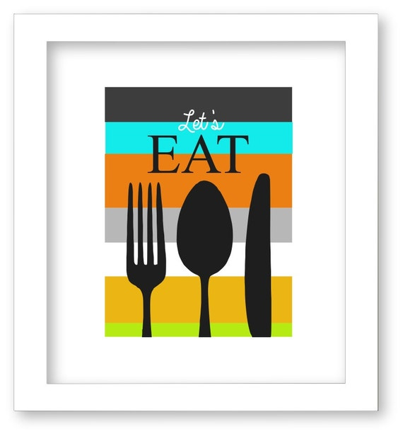 Wall Decor For Eat In Kitchen : Kitchen art print eat decor wall
