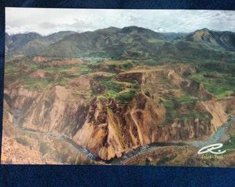 """Photo: Colca, Perú (18"""" x 12"""" print) (front signature)"""