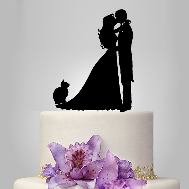 Acrylic Wedding Cake Topper Bride And Groom By Walldecal76 On Etsy