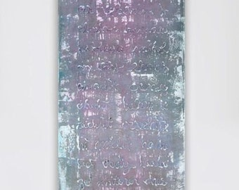 large abstract painting large canvas painting wall art abstract art huge painting purple grey gray blue teal white pink purple canvas art