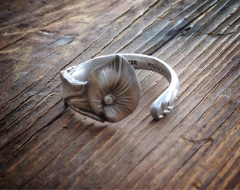 Calla Lily Sterling Spoon Ring