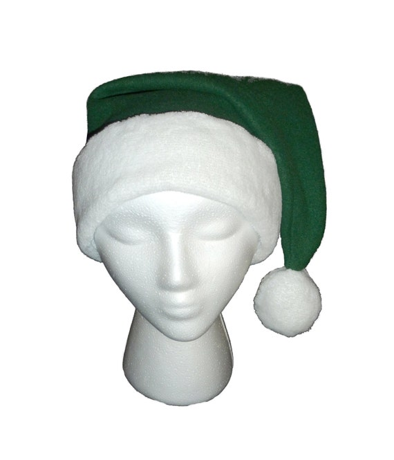 Traditional green santa hat christmas plain and