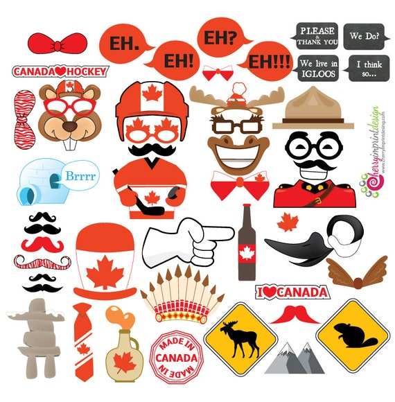 46 Hilarious Canada Canada Day Photo Booth Props Great For
