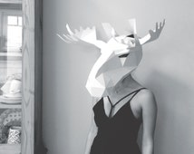 moose mask build your own with these easy to follow templates and