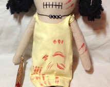 "Creepy n Cute Zombie Doll - ""Clementine"" - Inspired by Telltale Games TWD (P & D)"