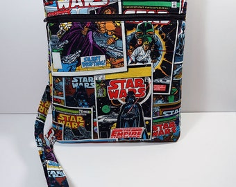 NEW Star Wars Comic Book Crossbody Bag with Zipper Cross Body Bag - Purse - Handbag