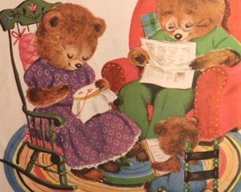 "The Three Bears - Vintage print from ""Favourite Goodnight Stories"", circa 1970s"