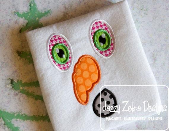 Snowman Face 4 Appliqué embroidery Design - snowman Applique Design - Winter Applique Design - snow man Appliqué Design - snow man face