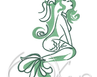 MACHINE EMBROIDERY FILE - Mermaid