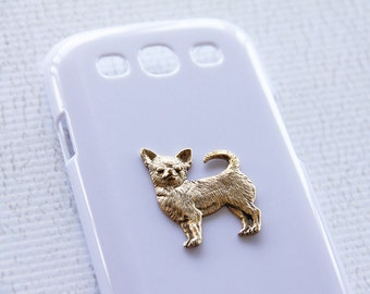 Chihuahua iPhone 6s Plus White  Gold Plated Hard Shell Cell Case iPhone 6 Plus Case iPhone 7 Case iPhone 7 Plus Case