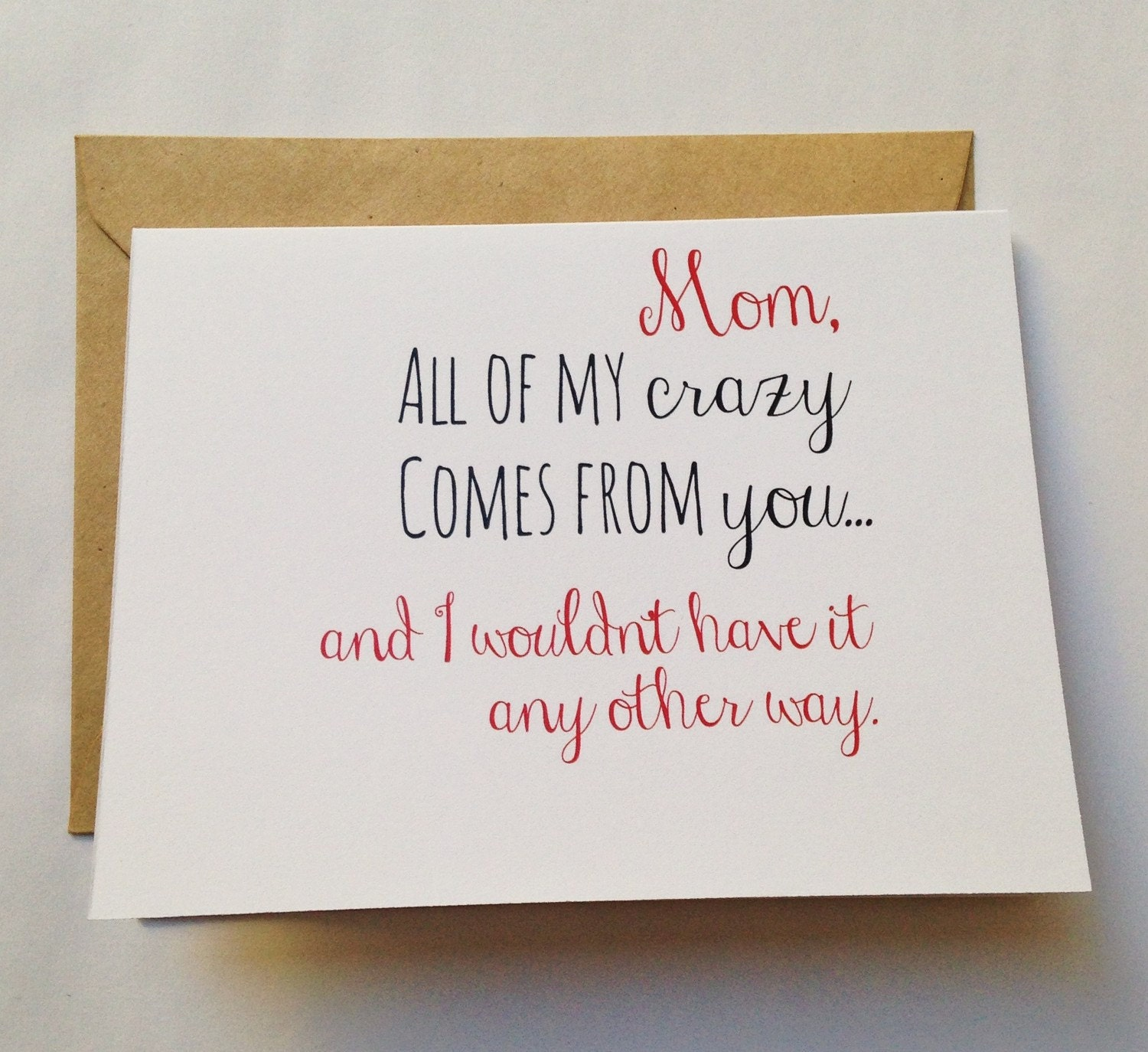 Mom Card Mother's Day Card Mom Birthday Card Funny