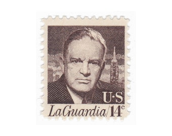 14c LaGuardia // 1972 Vintage Unused US Postage Stamps // Qty of 10 // No. 1397