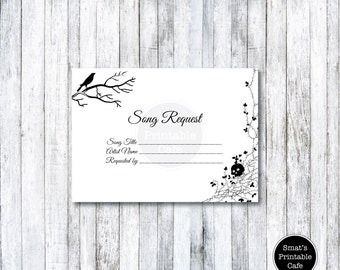 Halloween Wedding RSVP Cards Template DIY Printable Gothic