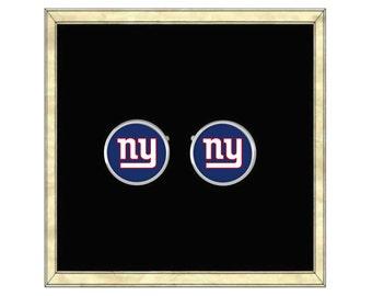 NY Giants Cufflinks - Silver Plated Cufflinks