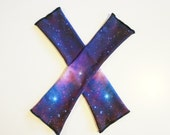 Galaxy Purple Armwarmers Actual Space Image Fingerless Gloves Arm Warmers
