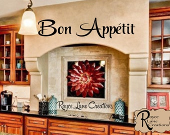 Bon Appetit Kitchen Wall Decal-Kitchen Wall Decal - Bon Appetit Decal- Kitchen Decal Kitchen Art- Kitchen Decor