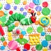 Very Colorful Caterpillar Fondant  Complete FLAT SET  Cake Cupcake Toppers & More