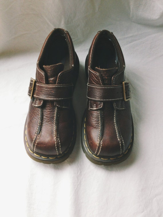 brown doc martens brown dress shoes loafers size 7 7 5