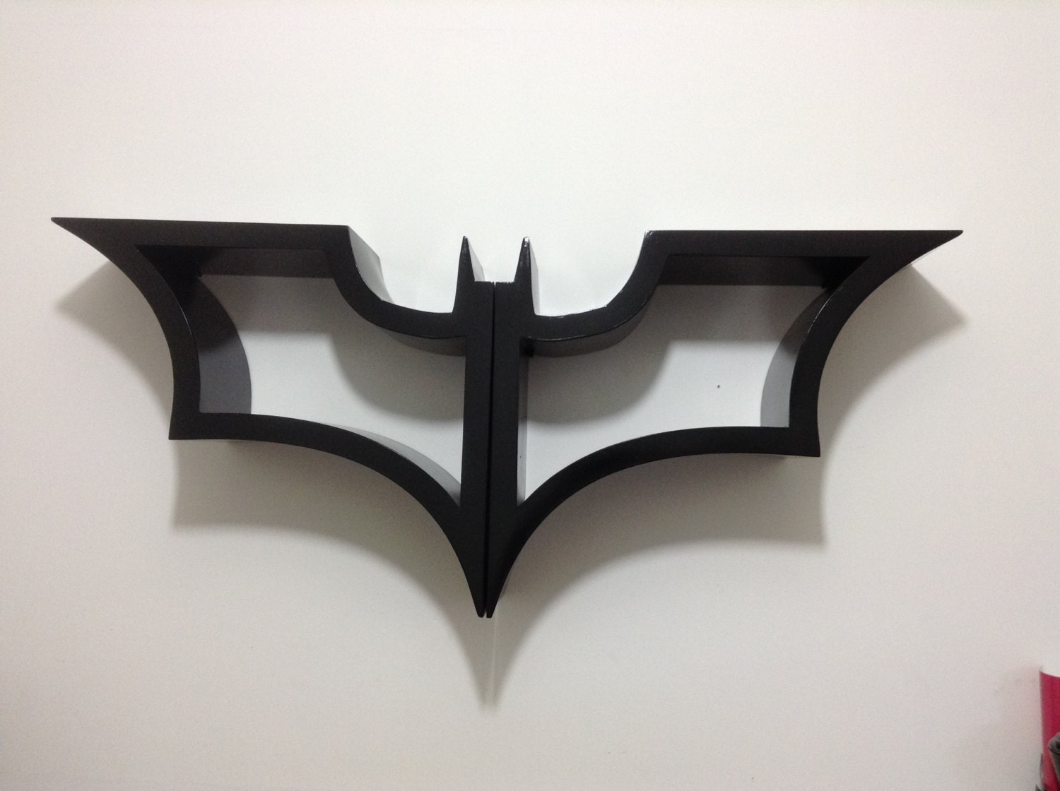 Batman bookshelf made of wood