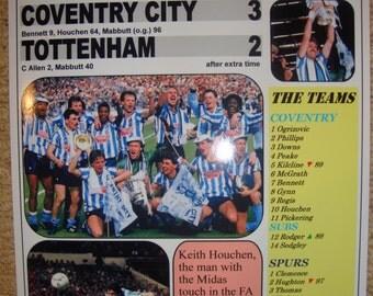 Coventry City 3 Spurs 2 - 1987 FA Cup final - souvenir print